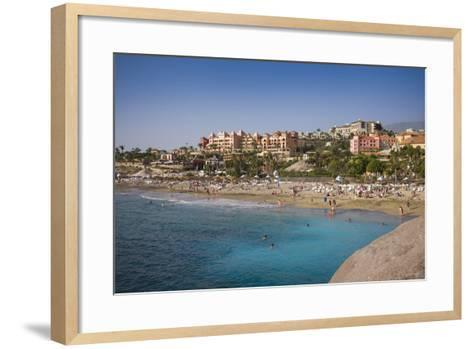 Spain, Canary Islands, Tenerife, Costa Adeje, Playa Del Duque, Elevated View-Walter Bibikow-Framed Art Print