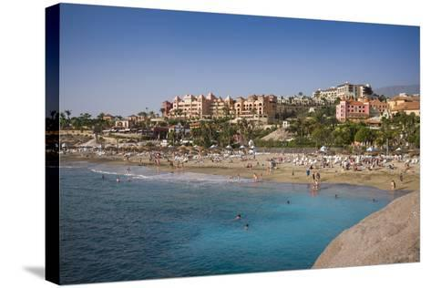 Spain, Canary Islands, Tenerife, Costa Adeje, Playa Del Duque, Elevated View-Walter Bibikow-Stretched Canvas Print