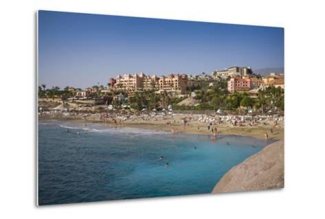 Spain, Canary Islands, Tenerife, Costa Adeje, Playa Del Duque, Elevated View-Walter Bibikow-Metal Print