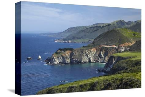 California Central Coast, Big Sur, Pacific Coast Highway, Viewed from Hurricane Point-David Wall-Stretched Canvas Print