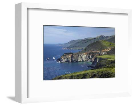 California Central Coast, Big Sur, Pacific Coast Highway, Viewed from Hurricane Point-David Wall-Framed Art Print