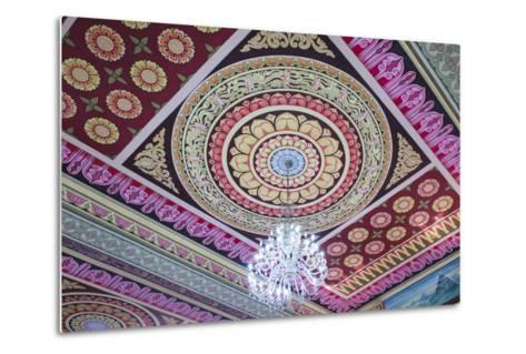 Singapore, East Singapore, Mangala Vihara Buddhist Temple, Ceiling-Walter Bibikow-Metal Print