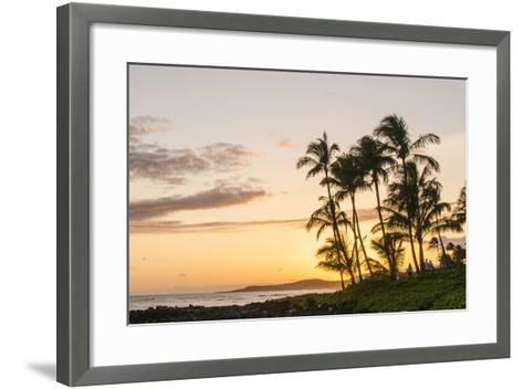 Sunset at Poipu Beach Kauai, Hawaii-Michael DeFreitas-Framed Art Print
