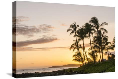 Sunset at Poipu Beach Kauai, Hawaii-Michael DeFreitas-Stretched Canvas Print