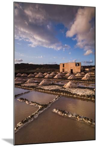 Spain, Canary Islands, Lanzarote, El Golfo, Salinas De Janubio, Salt Evaporation Pans, Sunset-Walter Bibikow-Mounted Photographic Print