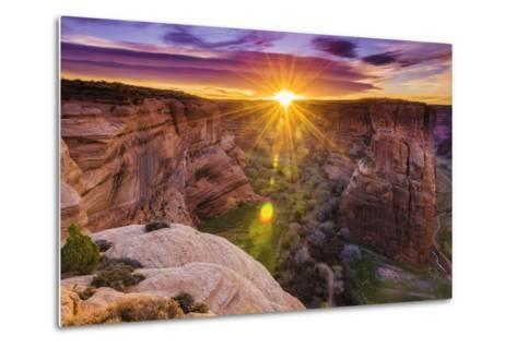 Sunrise over Canyon Del Muerto, Canyon De Chelly National Monument, Usa-Russ Bishop-Metal Print