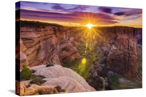 Sunrise over Canyon Del Muerto, Canyon De Chelly National Monument, Usa-Russ Bishop-Stretched Canvas Print
