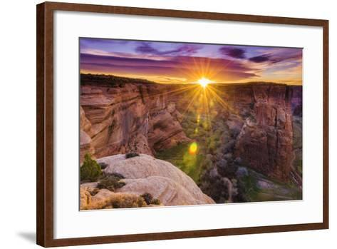 Sunrise over Canyon Del Muerto, Canyon De Chelly National Monument, Usa-Russ Bishop-Framed Art Print