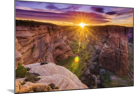 Sunrise over Canyon Del Muerto, Canyon De Chelly National Monument, Usa-Russ Bishop-Mounted Photographic Print