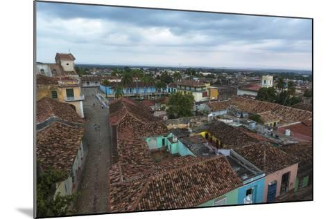 Cuba, Trinidad. Storm Clouds Above the Rooftops of Town-Brenda Tharp-Mounted Photographic Print