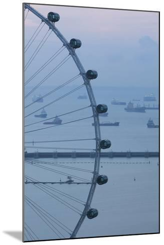 Singapore, Singapore Flyer, Giant Ferris Wheel, Elevated View, Dawn-Walter Bibikow-Mounted Photographic Print