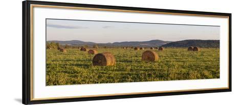 Hay Bales , the International Appalachian Trail. Merrill, Near Smyrna Mills-Jerry and Marcy Monkman-Framed Art Print