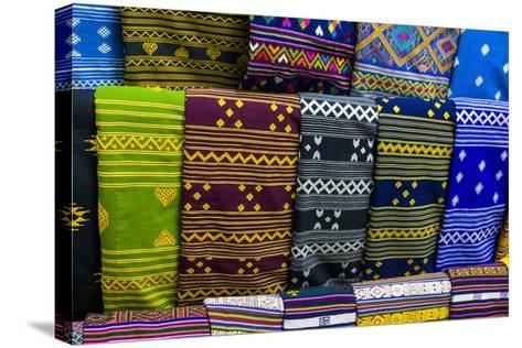 Colorful Traditional Cloth for Sale, Paro, Bhutan-Michael Runkel-Stretched Canvas Print