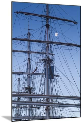 Spain, Canary Islands, Lanzarote, Arecife, Norwegian Tall Ship Christian Radich in Port, Dawn-Walter Bibikow-Mounted Photographic Print