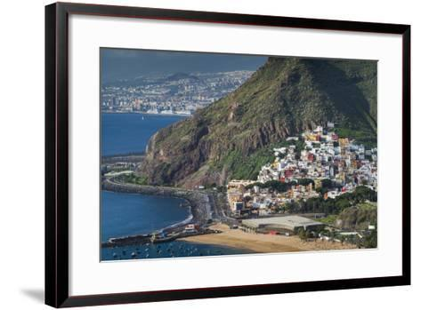 Spain, Canary Islands, Tenerife, San Andres, Elevated View-Walter Bibikow-Framed Art Print