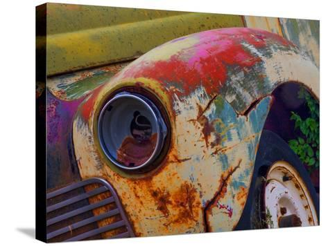 Detail of an Abandoned Chevrolet Truck Headlight-Mallorie Ostrowitz-Stretched Canvas Print