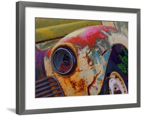 Detail of an Abandoned Chevrolet Truck Headlight-Mallorie Ostrowitz-Framed Art Print