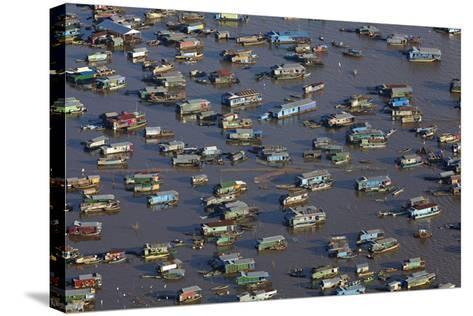 Chong Kneas Floating Village, Tonle Sap Lake, Near Siem Reap, Cambodia-David Wall-Stretched Canvas Print