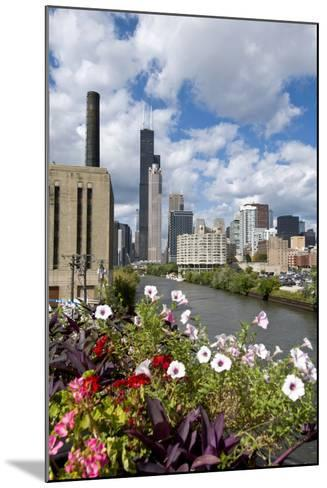 Chicago Skyline and River Looking North-Alan Klehr-Mounted Photographic Print