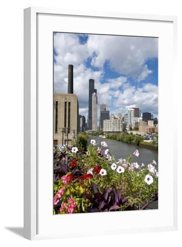 Chicago Skyline and River Looking North-Alan Klehr-Framed Art Print