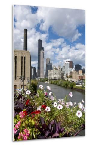 Chicago Skyline and River Looking North-Alan Klehr-Metal Print