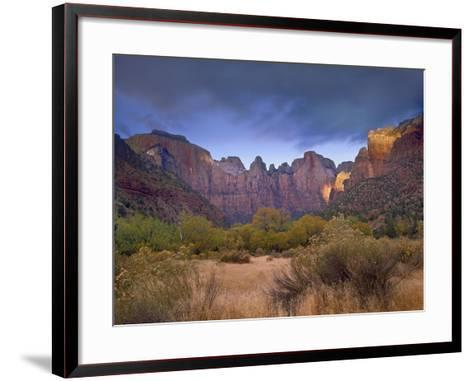 Towers of the Virgin, Zion National Park, Utah-Tim Fitzharris-Framed Art Print
