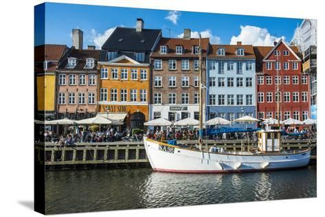 Fishing Boats in Nyhavn, 17th Century Waterfront, Copenhagen, Denmark-Michael Runkel-Stretched Canvas Print