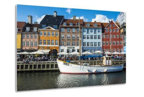 Fishing Boats in Nyhavn, 17th Century Waterfront, Copenhagen, Denmark-Michael Runkel-Metal Print