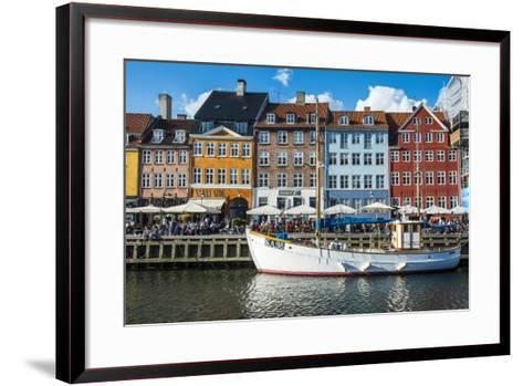 Fishing Boats in Nyhavn, 17th Century Waterfront, Copenhagen, Denmark-Michael Runkel-Framed Art Print