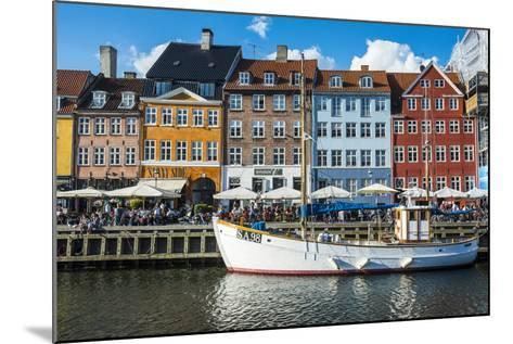 Fishing Boats in Nyhavn, 17th Century Waterfront, Copenhagen, Denmark-Michael Runkel-Mounted Photographic Print
