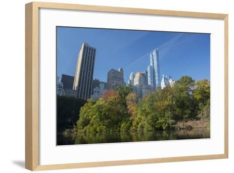 High-Rise Buildings Along from Inside Central Park on a Sunny Fall Day, New York-Greg Probst-Framed Art Print