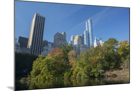 High-Rise Buildings Along from Inside Central Park on a Sunny Fall Day, New York-Greg Probst-Mounted Photographic Print