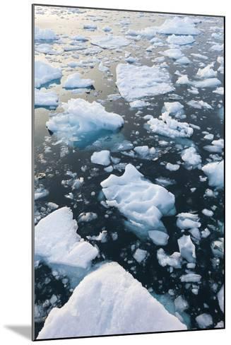 Greenland, Disko Bay, Ilulissat, Floating Ice at Sunset-Walter Bibikow-Mounted Photographic Print