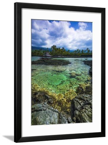 Coral Reef and Heixu, Pu'Uhonua O Honaunau National Historic Park, Kona Coast, Hawaii, Usa-Russ Bishop-Framed Art Print