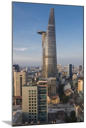Vietnam, Ho Chi Minh City. Elevated City View with Bitexco Tower, Dawn-Walter Bibikow-Mounted Photographic Print
