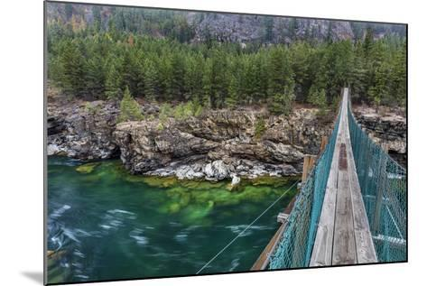 Swing Bridge over the Kootenai River Near Libby, Montana, Usa-Chuck Haney-Mounted Photographic Print