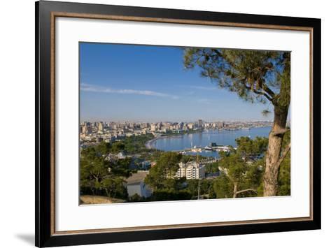 View over Coast of Baku, Baku Bay, Azerbaijan-Michael Runkel-Framed Art Print