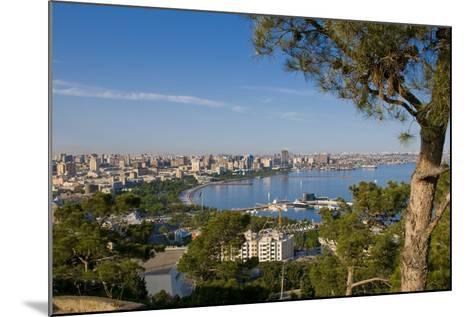 View over Coast of Baku, Baku Bay, Azerbaijan-Michael Runkel-Mounted Photographic Print