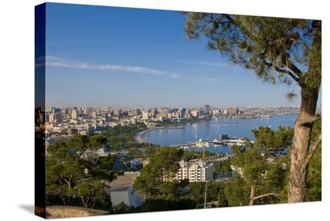 View over Coast of Baku, Baku Bay, Azerbaijan-Michael Runkel-Stretched Canvas Print