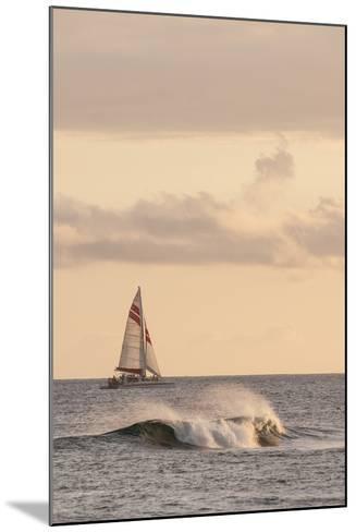 Sunset at Poipu Beach Kauai, Hawaii-Michael DeFreitas-Mounted Photographic Print