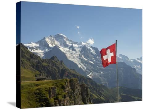 Switzerland, Bern Canton, Mannlichen, the Jungfrau-Jamie And Judy Wild-Stretched Canvas Print