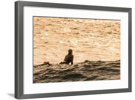 Surfing in Turtle Bay, North Shore, Oahu, Hawaii-Michael DeFreitas-Framed Art Print