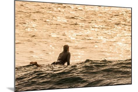 Surfing in Turtle Bay, North Shore, Oahu, Hawaii-Michael DeFreitas-Mounted Photographic Print