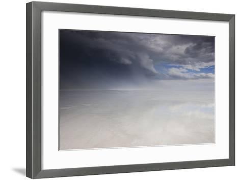 Passing Thunderstorm over Bonneville Salt Flats, Utah-Judith Zimmerman-Framed Art Print
