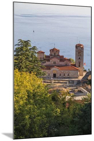 Macedonia, Ohrid, Lake Ohrid, Saint Panteleimon Monastery on Plaosnik-Emily Wilson-Mounted Photographic Print