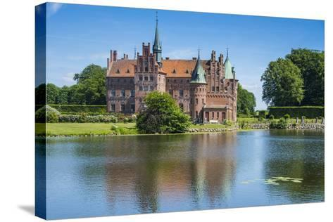 Pond before the Castle Egeskov, Denmark-Michael Runkel-Stretched Canvas Print