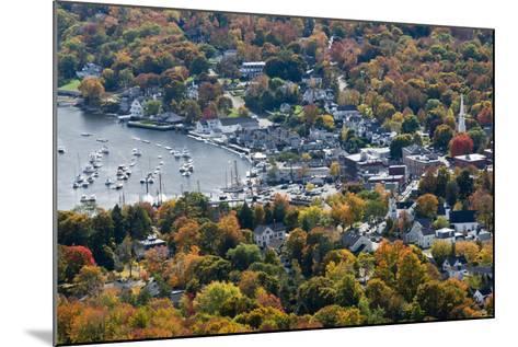 Autumn, Camden Harbor, Camden, Maine, from Mount Battie State Park-Michel Hersen-Mounted Photographic Print