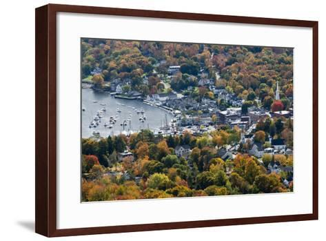 Autumn, Camden Harbor, Camden, Maine, from Mount Battie State Park-Michel Hersen-Framed Art Print
