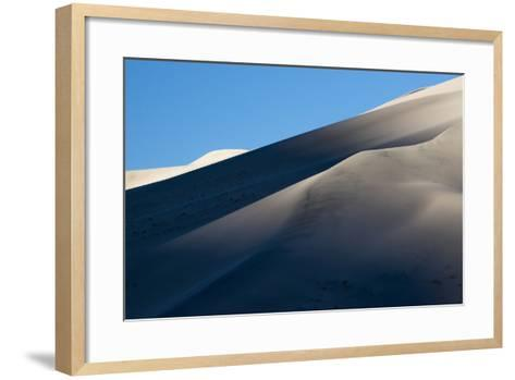 California. Death Valley National Park. Early Morning Light on Eureka Sand Dunes-Judith Zimmerman-Framed Art Print