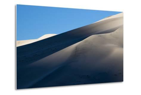 California. Death Valley National Park. Early Morning Light on Eureka Sand Dunes-Judith Zimmerman-Metal Print